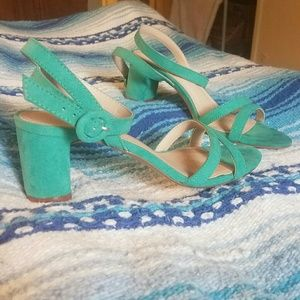 Suede Green Heels from H&M